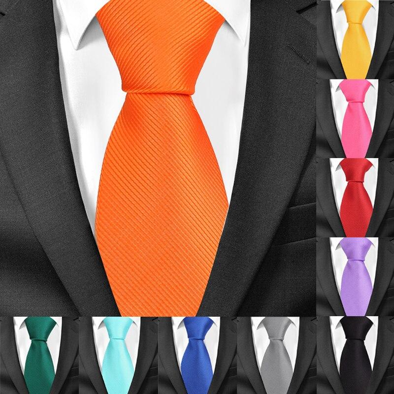 Новые Классические однотонные галстуки для мужчин, модные повседневные Галстуки для шеи, деловые мужские галстуки-колечки 8 см, ширина, галстук жениха для вечеринки