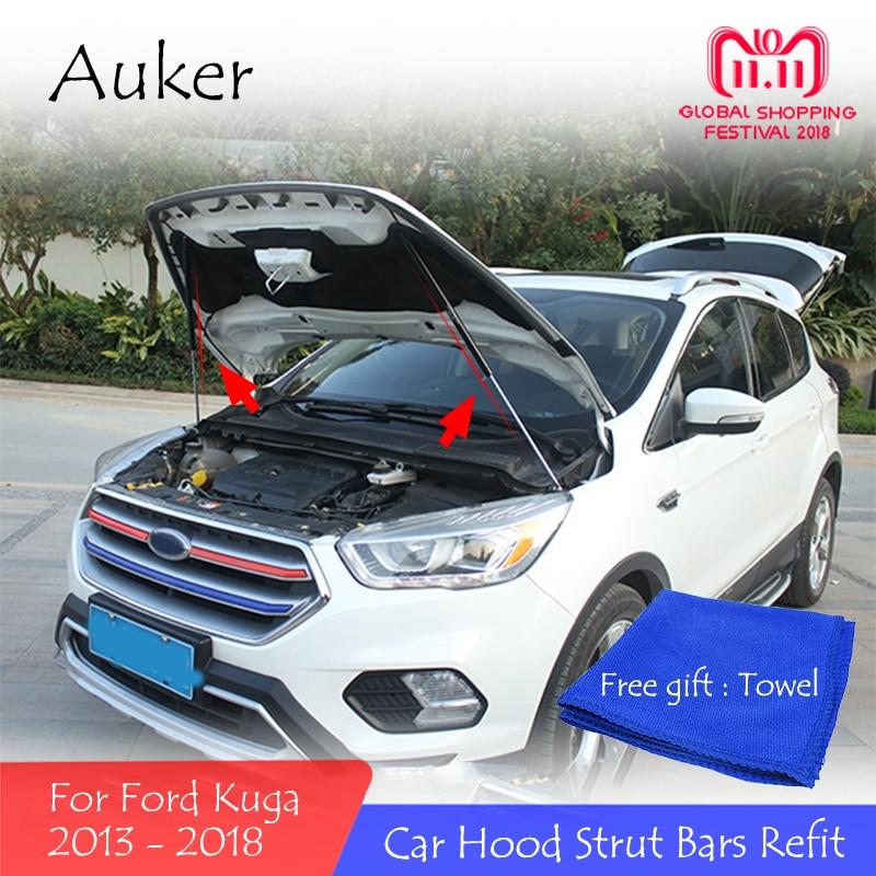 Para 2013-2018 ford kuga reequipamento capa dianteira do carro motor capa hidráulica haste strut mola barra de choque estilo do carro