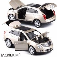 Coches de juguete Diecast de alta simulación exquisitos estilo Cadillac SRX todoterreno 132 aleación Diecast SUV modelo coche de juguete regalo para niños