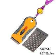 EHDIS бритвы скребок с 10 шт. Сталь лезвия Ножи тонировка Инструменты Авто Стикеры Ракель Виниловая Пленка Клей скребок для удаления тонировка для авто