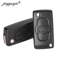 Jingyuqin 4 Tasten Flip Floding Remote Key Fob Fall Shell Fob Für Peugeot 1007 Citroen C8 Uncut VA2 Hu82 Klinge CE0523 Ersetzen
