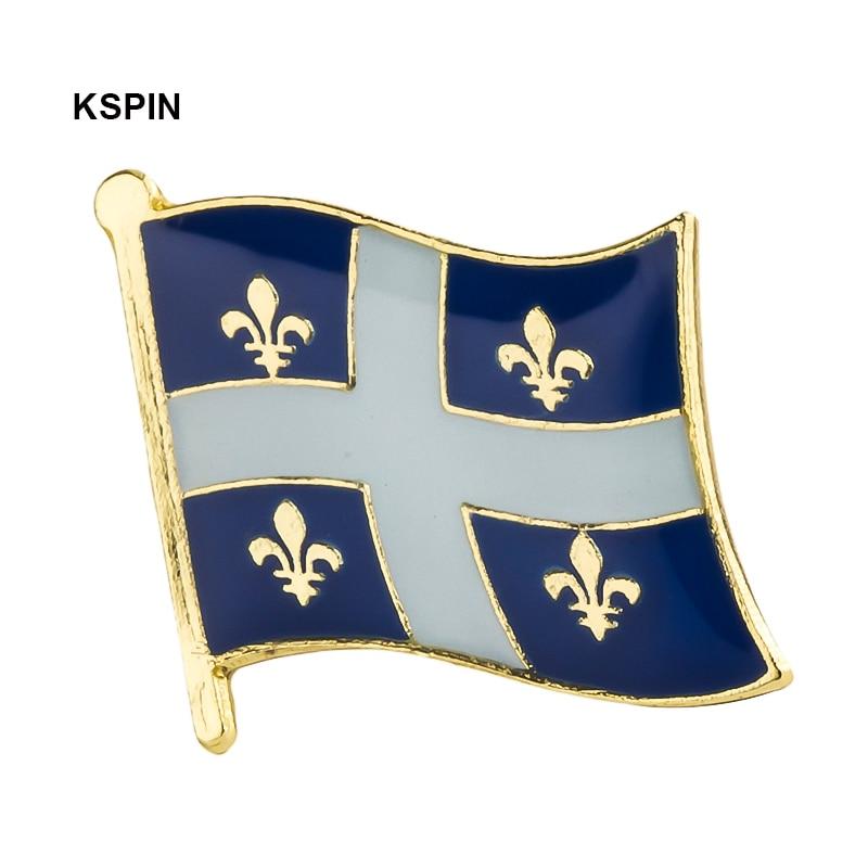 Quebec flag lapel pin badge pin  Brooch Icons 1PC KS-0223