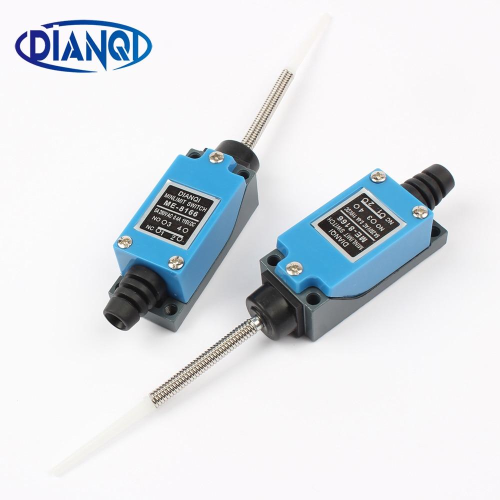 Mini interruptor de límite momentáneo actuador de muelle de bobina de varilla Flexible ME-8166