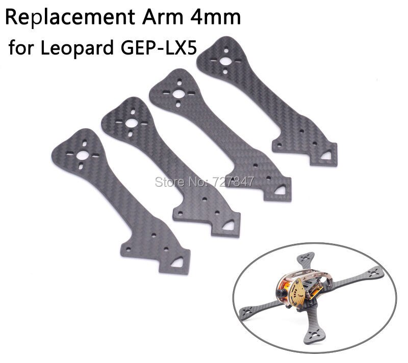 FPV сменная рама из углеродного волокна Arm 4 мм для Leopard GEP-LX5 GEP LX5 220 мм/GEP-LX6 LX6 255 мм