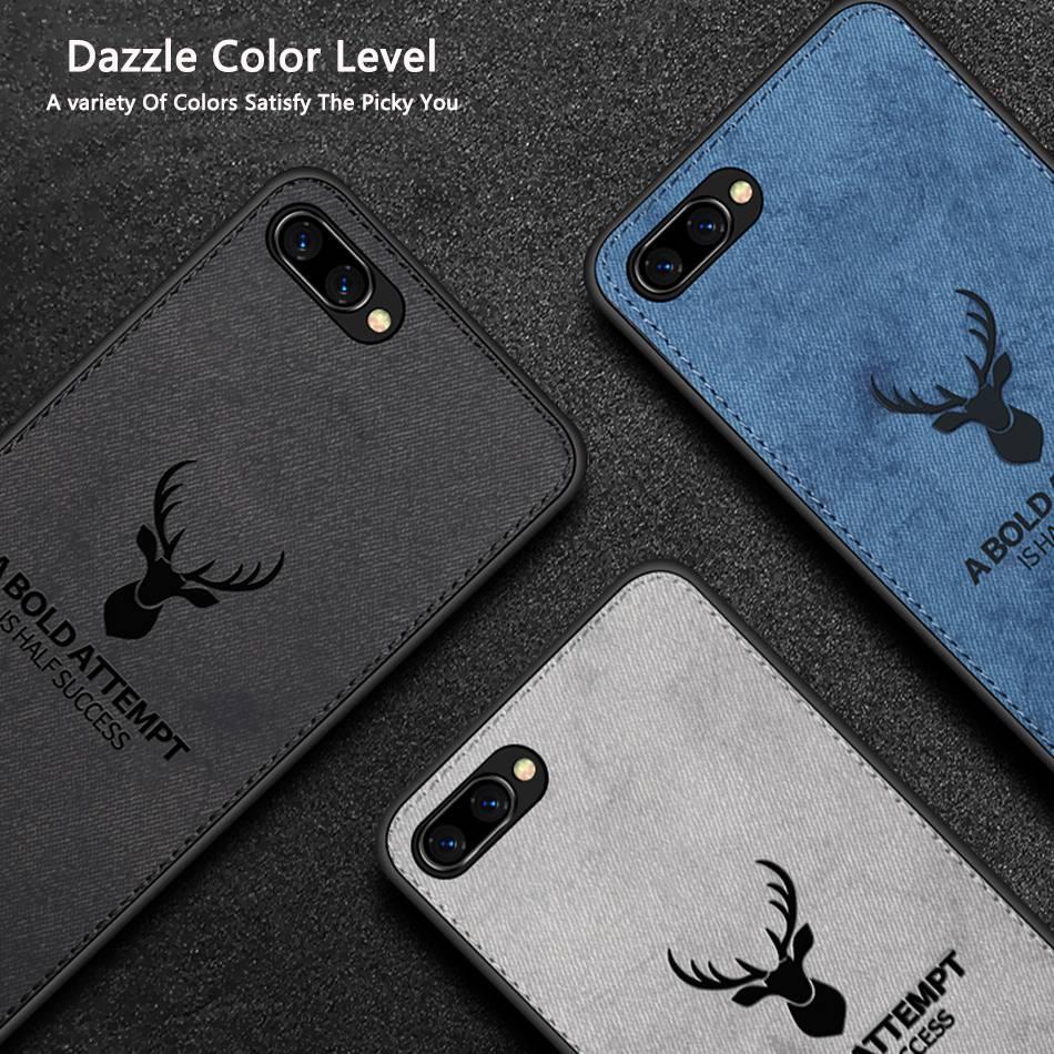 "Funda con textura de tela TPU para Huawei Honor 7A Russia 5,45 ""Y5 2018 con diseño de ciervo para Huawei Enjoy 8e Youth 8e lite"