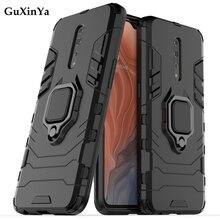 Kickstand Phone Cases For OPPO Reno Z Cover Luxury Armor Magnetic Ring Back Cover For OPPO Reno Z PC