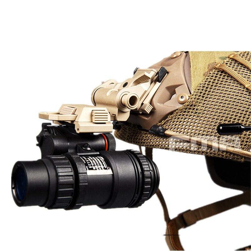 2020 nova pvs18 nvg night vision óculos manequim modelo versão metal real preto (novo estilo) para a caça capacete airsoft paintball