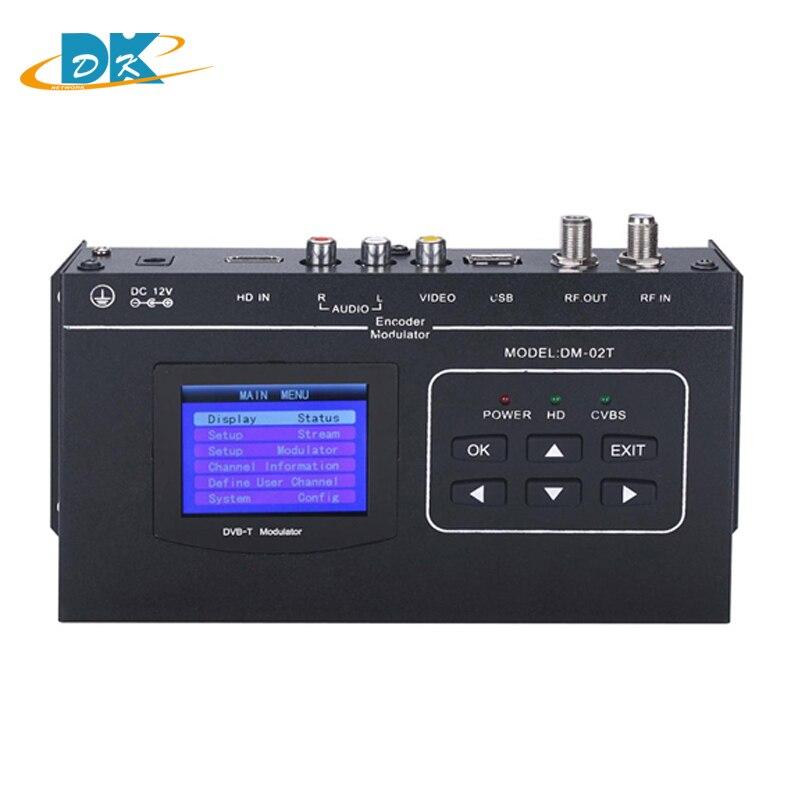 1080P HDMI/CVBS to DVB-T encoder modulator DM-02TH Digital TV Headend QAM RF Modulator dvb-t DVB-TCOFDM digital modulator