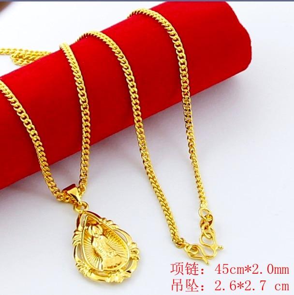 Nueva llegada de moda 24K GP collar de color oro para hombres y mujeres collar de oro amarillo de joyería de oro venta caliente YHDN023