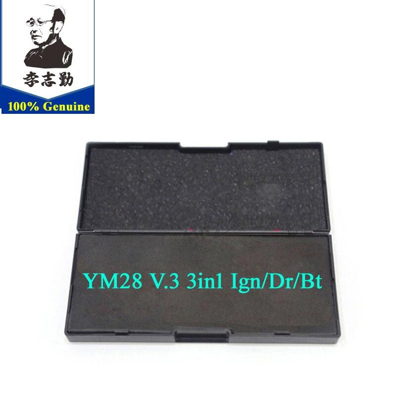 Genuino YM28 V.3 3 Función de in1 Ign/Dr/Bt/lishi 3in1 herramienta YM28 Reparación de herramienta herramienta de cerrajería lishi 2in1