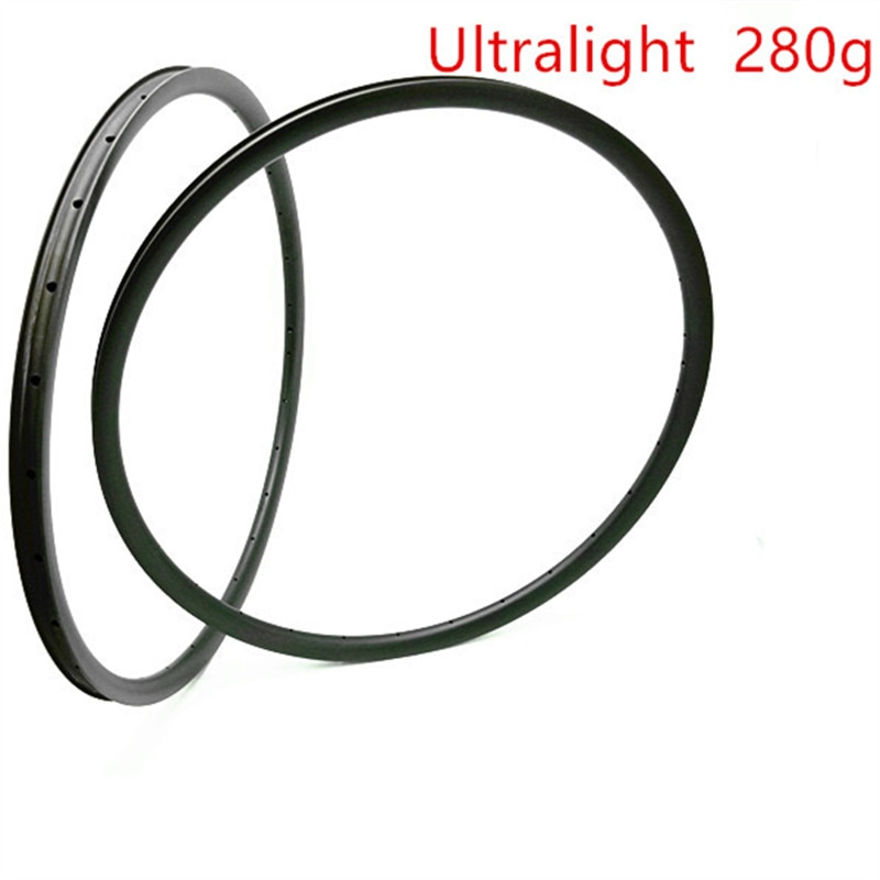 29er Ultralight rims carbon mtb disc rims 280g XC 27x25mm tubeless bicycle rim Mountain bike wheel disc mtb bike rim