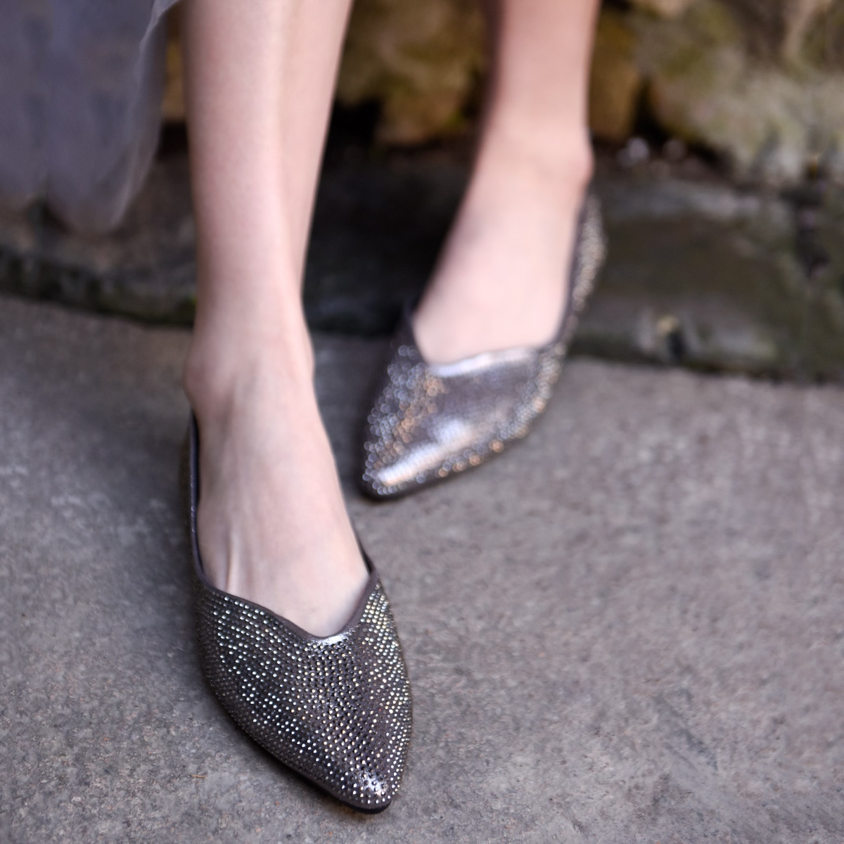 Artmu Original Fashion Crystal Shallow Mouth Womens Shoes Comfortable Pointed Toe New Summer Handmade Flats 9001-17