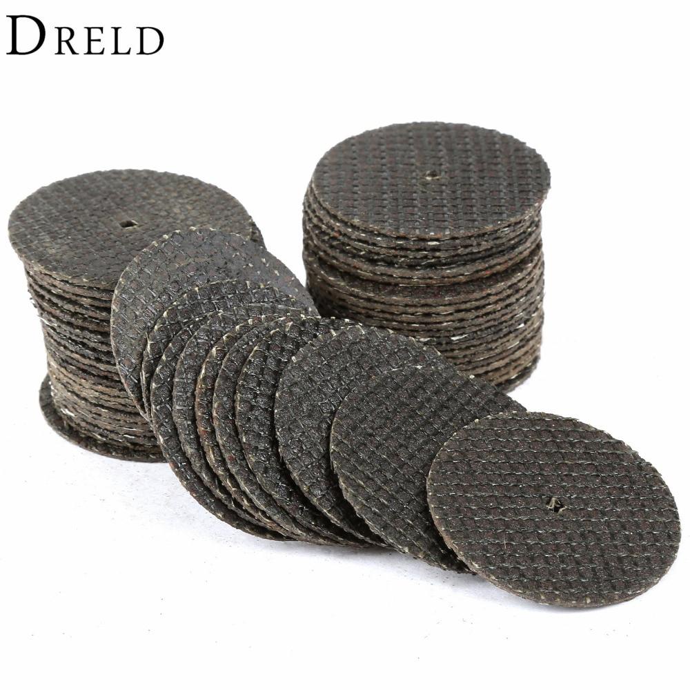 50бр Dremel аксесоари 32мм режещи дискове смола влакна отрязани колела дискове за ротационни инструменти шлайфане абразивни инструменти