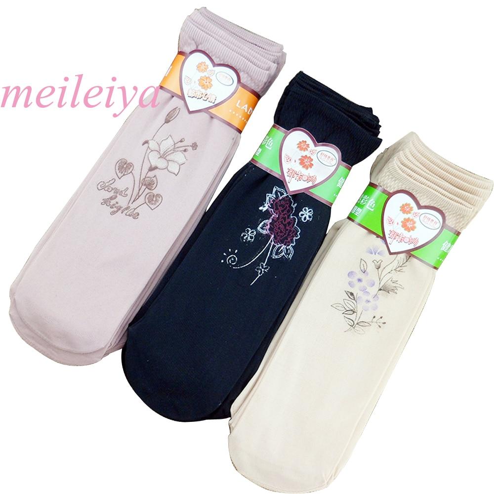 MEILEIYA 10 Pairs/Bag New High Quality Summer Ladies Socks Fashion Embroidered Socks Ladies Thin Velvet Socks  Breathable Socks
