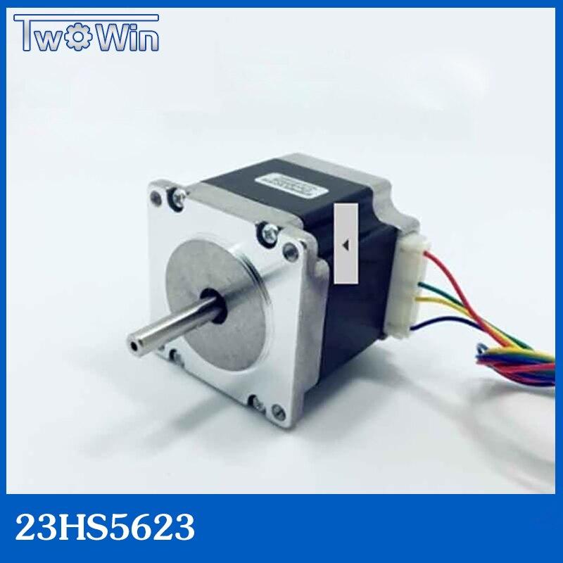 23HS5628 4-lead NEMA 23 motor ، 57 bermotor ، Nema23 motor ، 2.8A ISO CNC ليزر