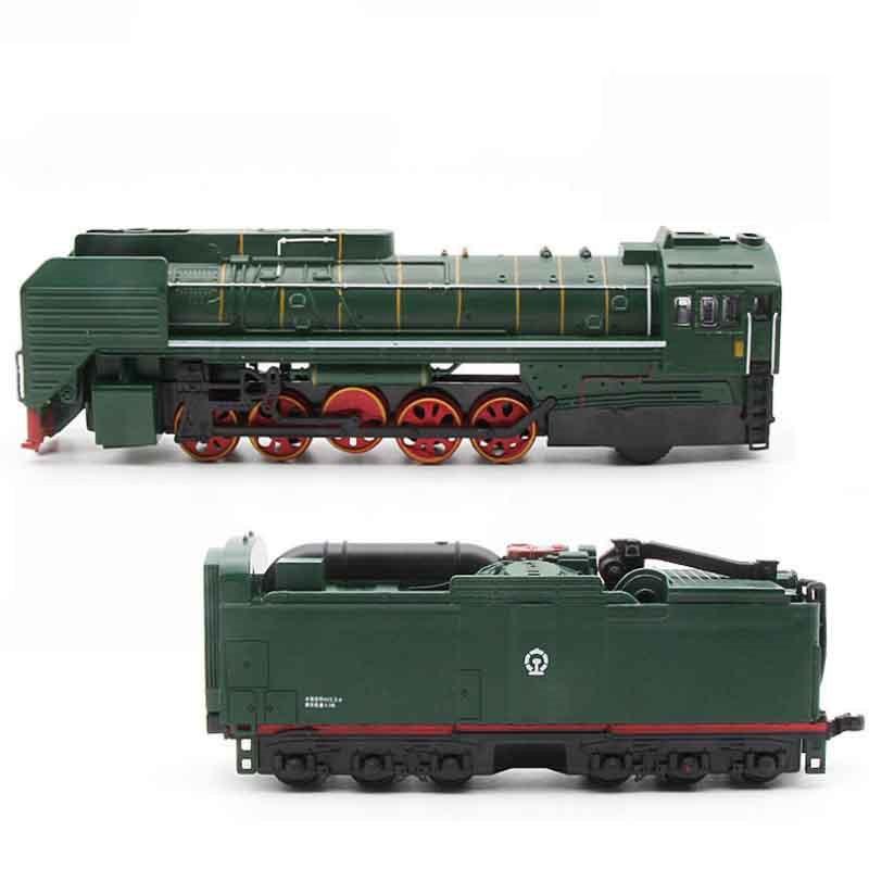 Dampf Zug Diesel Lokomotive Eine Größe Legierung Modell spielzeug autos Pull Zurück Sound Licht Modell spielzeug für kinder