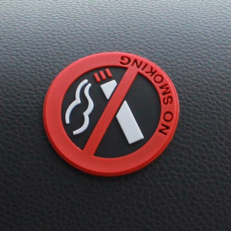 1 Uds estilo de coche etiqueta engomada del coche de No fumadores para Subaru XV Forester Outback Legacy Impreza XV BRZ Tribeca