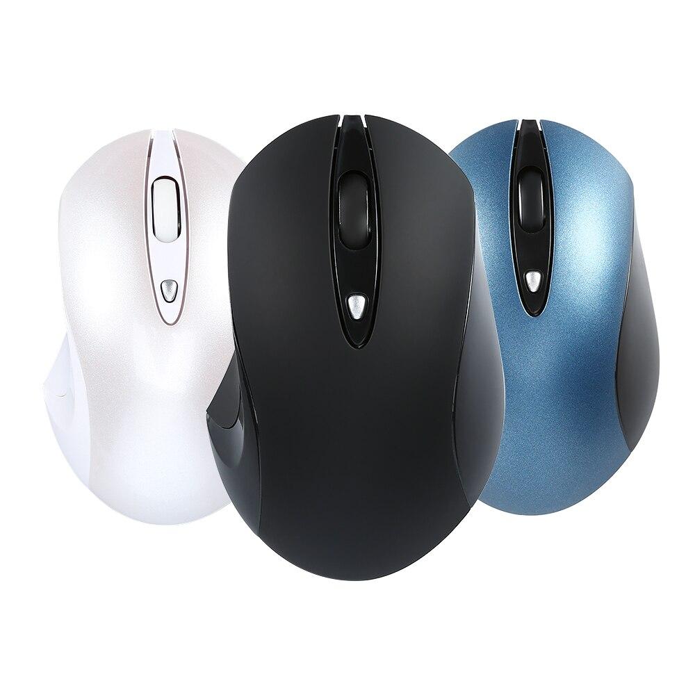 Ratón inalámbrico Universal de 2,4 GHz, ratón óptico de 1600DPI, ratón de oficina inalámbrico con receptor USB para ordenador PC y portátil