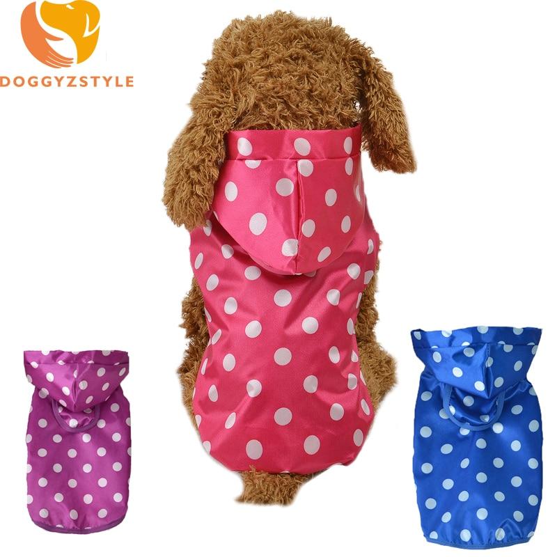Sudadera ondulada con estampado de perro, ropa impermeable, abrigo, trajes para perros pequeños, sudaderas con capucha Chihuahua, chaqueta, ropa, DOGGYZSTYLE