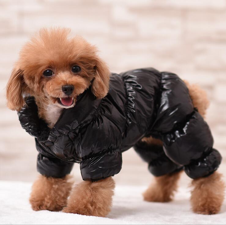 Inverno quente cachorro macacão casaco impermeável animal de estimação snowsuit 3 cores velo roupa para animais de estimação roupas para cães preto rosa azul xs s m l xl 2xl 3xl