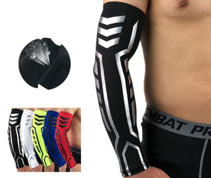 Aquecedores de braço ciclismo mangas de inverno mangas de basquete braço voleibol bandagem suporte muscular compressão cotovelo suporte
