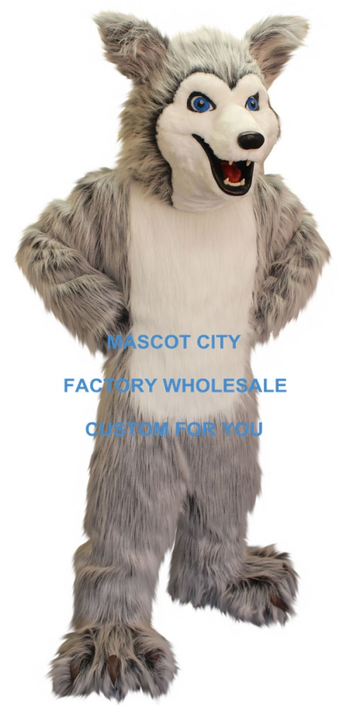Disfraz de Mascota de perro Husky de Material de felpa de lujo tamaño adulto perro de dibujos animados personaje Mascota traje de fiesta de disfraces SW692
