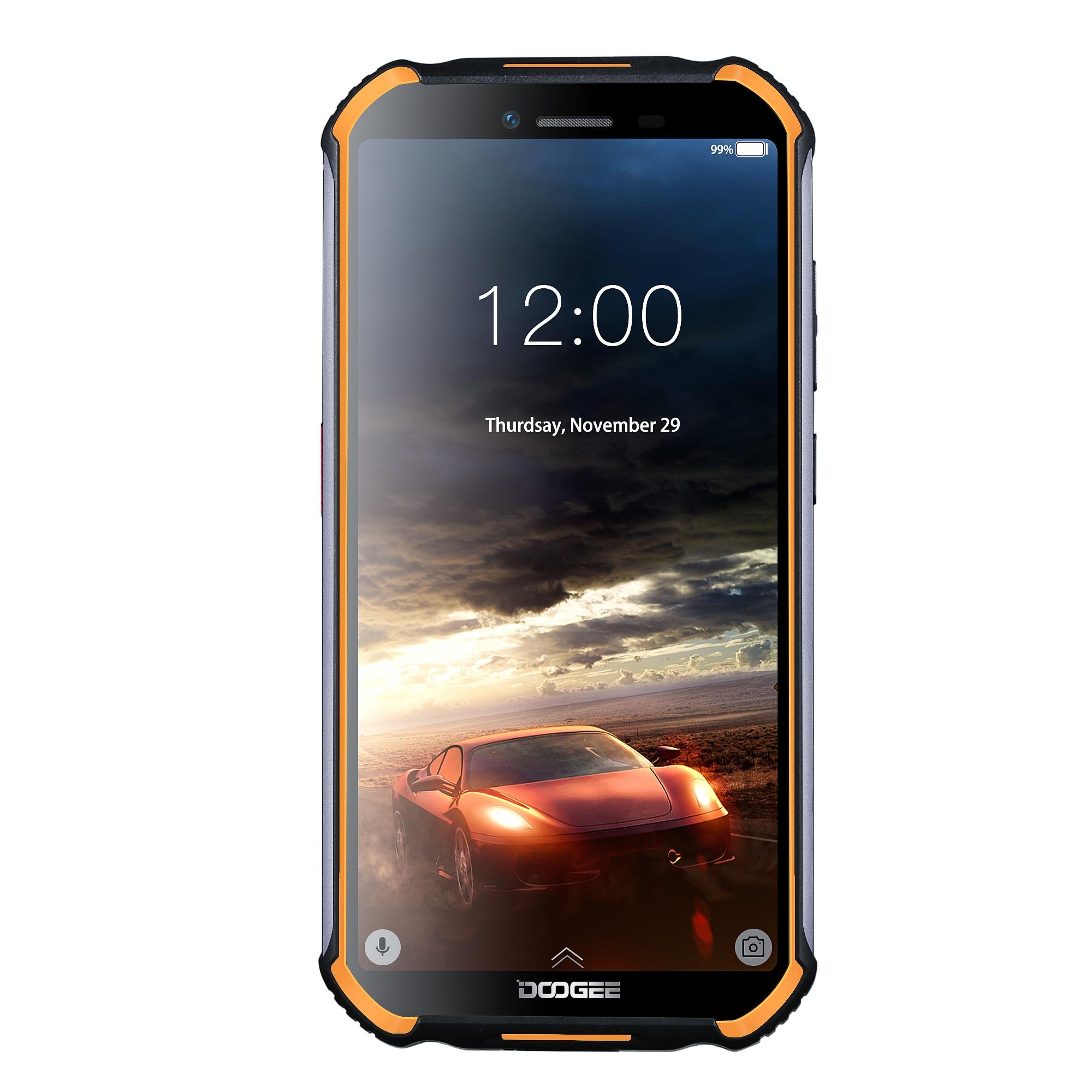 DOOGEE S40 الروبوت 9.0 4G شبكة هاتف محمول وعر 5.5 بوصة هاتف محمول MT6739 رباعية النواة 3GB RAM 32GB ROM 8.0MP IP68/IP69K