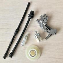 الغاز مُرشح زيت وقود خط مضخة زيت دودة كيت ل الصين 2 السكتة الدماغية المحرك 45CC 52CC 58CC 4500 5200 5800 بالمنشار أجزاء
