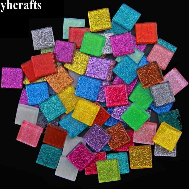 150 Uds./600 gramos/LotMix 2cm cuentas de mosaico brillante arte mosaico mármol mosaico artesanía material hecho a mano hobby adulto DIY al por mayor OEM