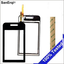 Sanerqi 10 pcs 삼성 갤럭시 tocco 라이트 s5230 디지타이저 터치 스크린 패널 센서 유리 스티커