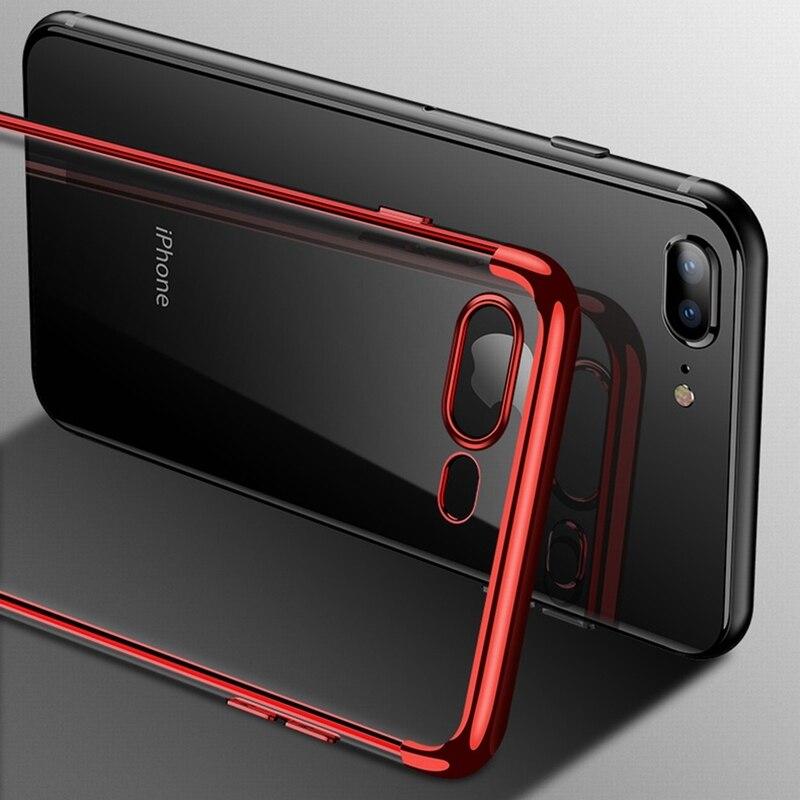 Прозрачный силиконовый чехол с покрытием для iPhone 11 Pro XS Max XR X, чехол, прозрачный мягкий чехол из ТПУ для iPhone 5 6S 7 8 Plus XS, сумка для телефона