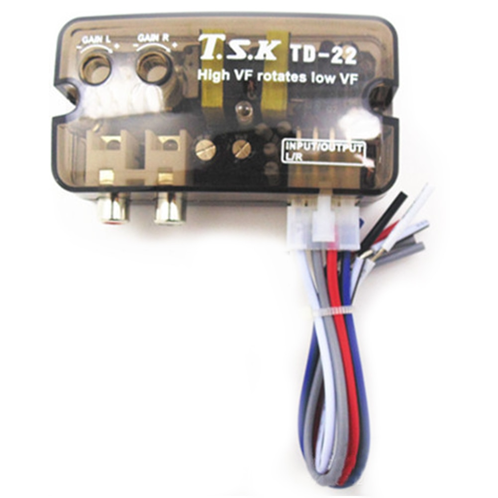 AMPLIFICADOR ESTÉREO de 12V para coche de alta a baja frecuencia con función de retardo, amplificador Subwoofer estéreo para coche, convertidor de baja frecuencia