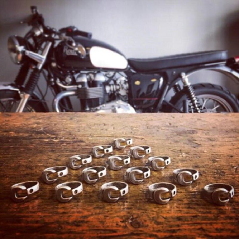 Anillo de plata antiguo de estilo hip hop/Rock, anillo de llave inglesa de acero inoxidable para hombres, joyería mecánica de motociclista