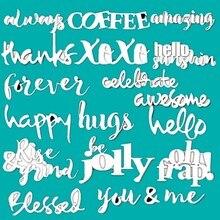 You Coffee-XOXO matrices de découpe   En métal, pochoir pour bricolage, gaufrage, carte de décoration dalbum Photo, découpe artisanale, 2019