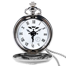 2020 Silver/Bronze Tone Fullmetal Alchemist Pocket Watch Cosplay Edward Elric Anime Design Boys Pend