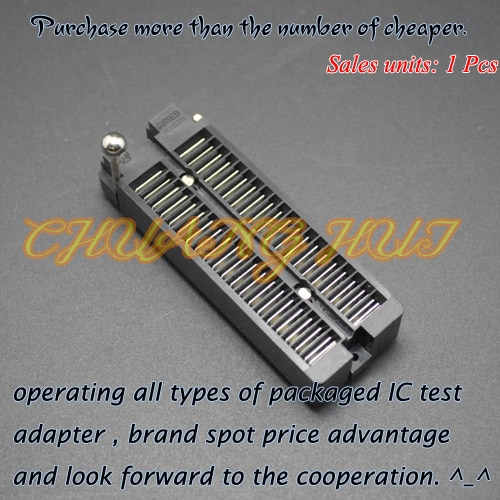 IC TEST Detect black DIP40 test socket DIP40 ic socket Pitch=2.54mm недорого