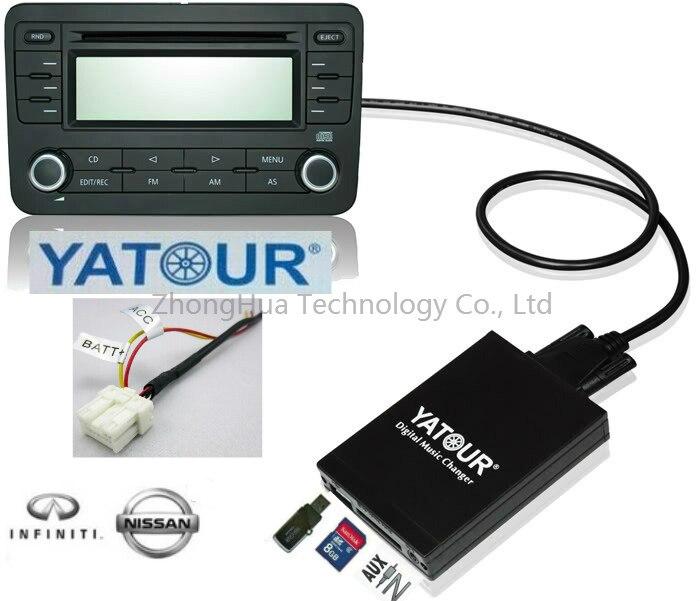 Yatour car radio USB SD AUX digital interface For Nissan Xtrail Teana Patrol CD Changer adapter MP3 media player