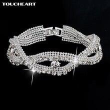 TOUCHEART luxe cristal Bracelets pour Femme argent Bracelets & Bracelets de mariée bijoux de mariage Bracelet Vintage Femme SBR140163