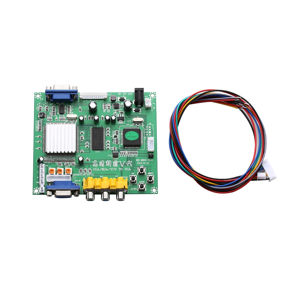 1PC RGB CGA EGA YUV a VGA HD Video convertidor de modelado HD9800 GBS8200