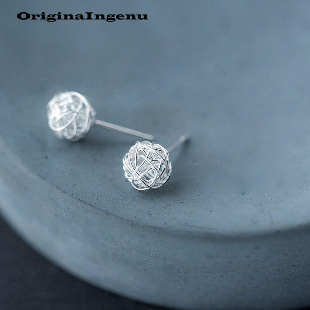 Pendientes de plata de ley 925, Pendientes Vintage minimalistas creativos para regalo de cumpleaños, Pendientes para mujer