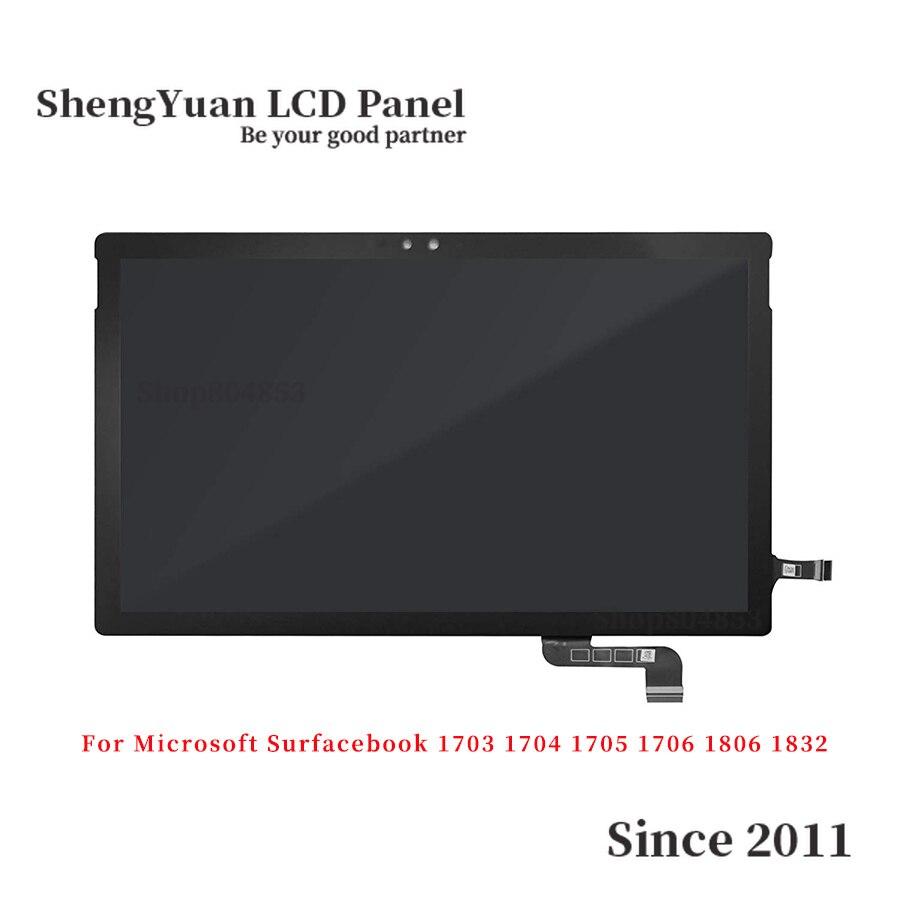 Para Microsoft superficie Libro 1 Libro 2 1703, 1704, 1705, 1706 2 1806 de 1832 pantalla LCD de pantalla táctil digitalizador Asamblea