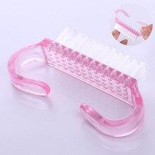 1Pc różowy czyszczenie szczotka do kurzu narzędzie różowy miękki Pedicure przybory do pielęgnacji paznokci przenośne po pliku