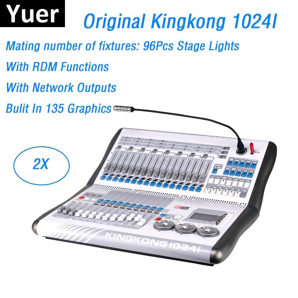 Kingkong 1024I DMX consola DMX512 Dj Disco controlador de iluminación de escenario integrado en 135 gráficos equipos de luces LED profesionales
