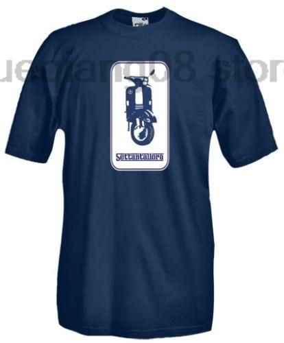 T Shirt girocollo manica corta двигатели V54 скутер Vespa Settantallora|Мужские футболки| |