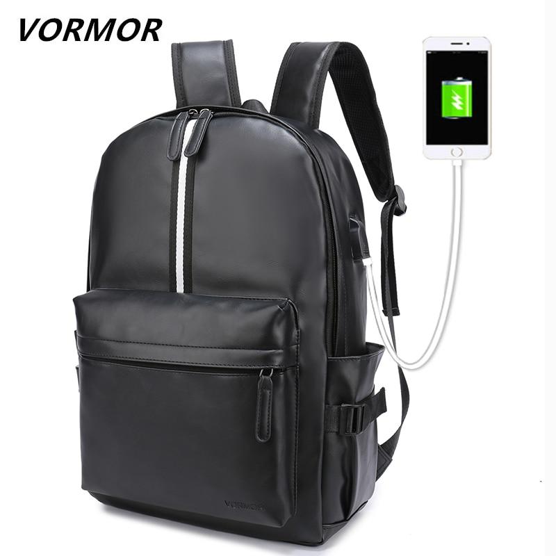 Vormor 2019 novo estilo preppy mochila escolar de couro saco para a faculdade 15.6 polegada mochilas portáteis dos homens casuais daypacks mochila