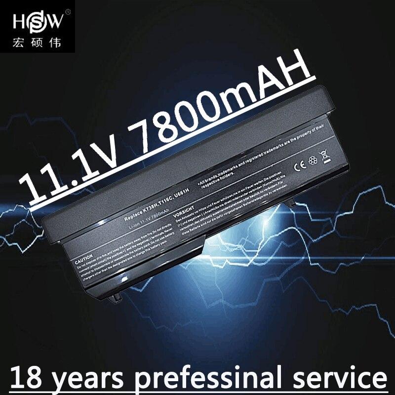 HSW 7800mAh portátil para Dell Vostro 1310 batería 1320 de 1520 de 1510 T114C T112C 0N241H 312-0724, 451-10655 K738H N950C U661H