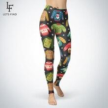 Новинка 2019, женские зимние теплые леггинсы, модные рождественские леггинсы с 3d принтом, высокая эластичность для фитнеса, штаны