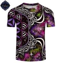 Fleur de vie par Brizbazaar Art 3D t-shirt hommes femmes T-shirts galaxie T-shirts à manches courtes T-shirts Groot hauts Streatwear livraison directe