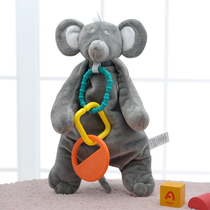 Elephant Soother Security Blanket Baby Toys 0 12 Months Teether Plush Stuffed Animal Toys for Baby Brinquedos Para Bebe Oyuncak