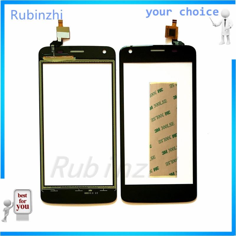 RUBINZHI, digitalizador de Sensor de pantalla táctil para teléfono móvil Fly Nimbus 14 fs456, Panel táctil, panel frontal, pegatina gratis